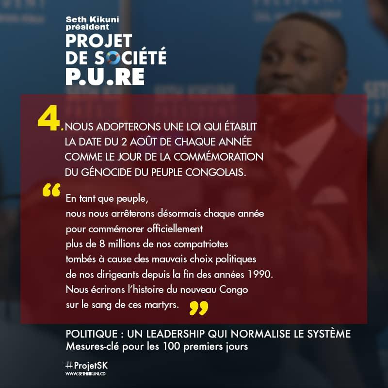 Twitt de Seth Kikuni Candidat presidentiel
